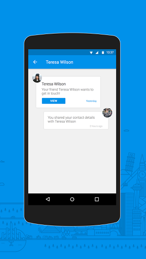 Caption: Notifications Tab inside app