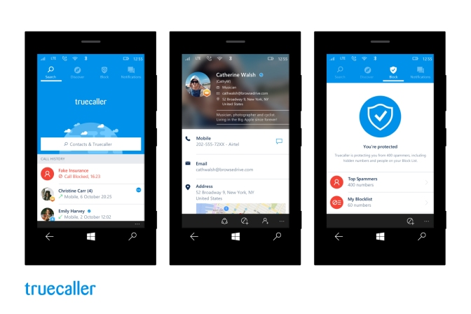 Truecaller Launches the Most Comprehensive App for Windows 10 Mobile