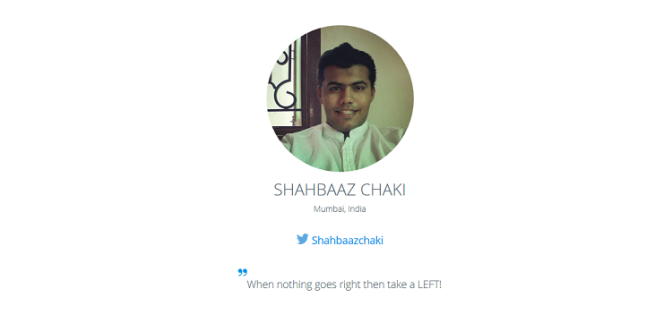 Ambassador of the Month: Shahbaaz!