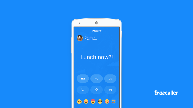 Send Quick Flash Messages on Truecaller